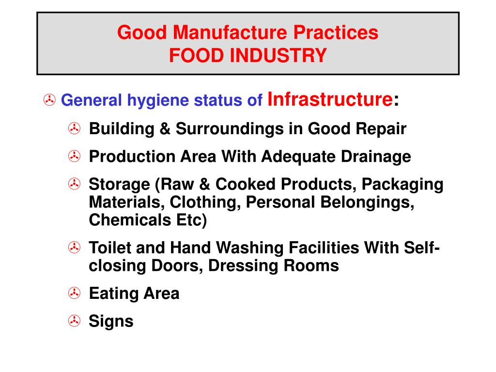 PPT - Good Manufacture Practices FOOD INDUSTRY PowerPoint