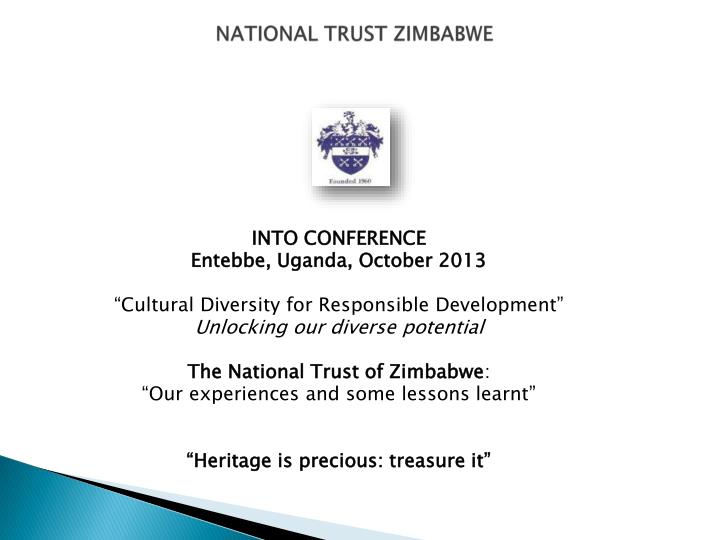national trust zimbabwe n.