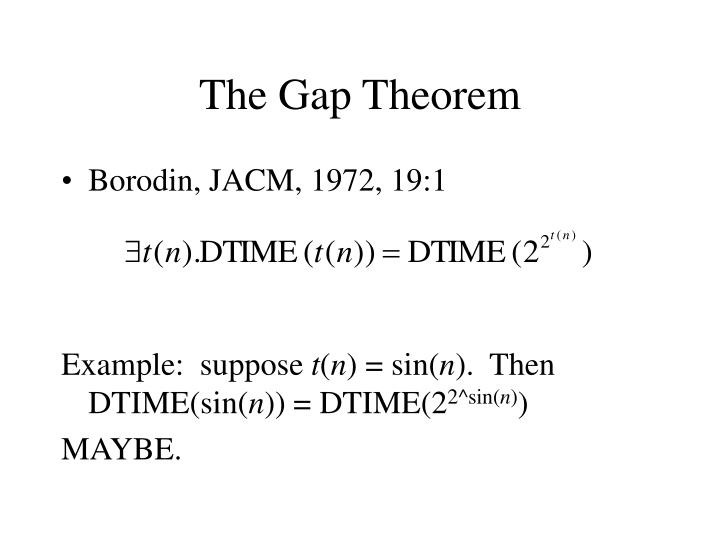 The Gap Theorem