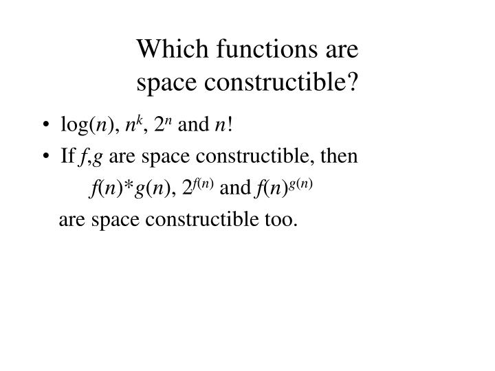 Which functions are