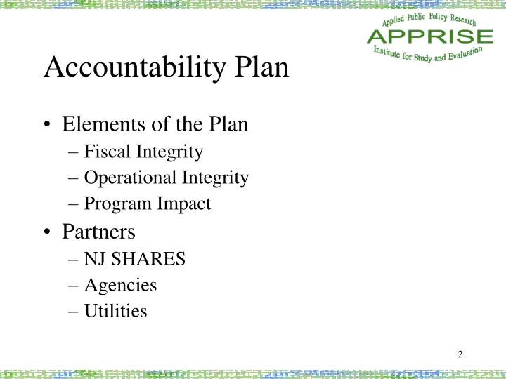 Accountability plan
