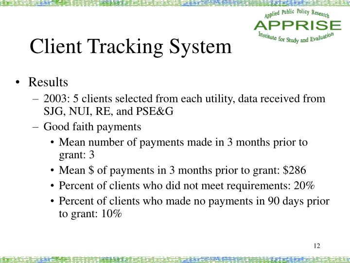 Client Tracking System
