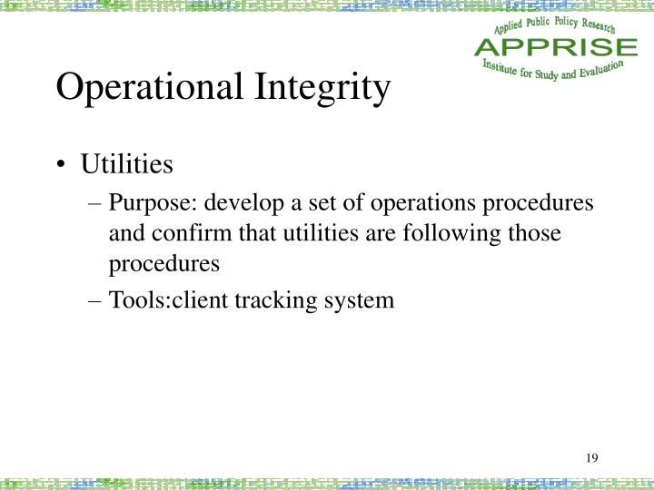Operational Integrity