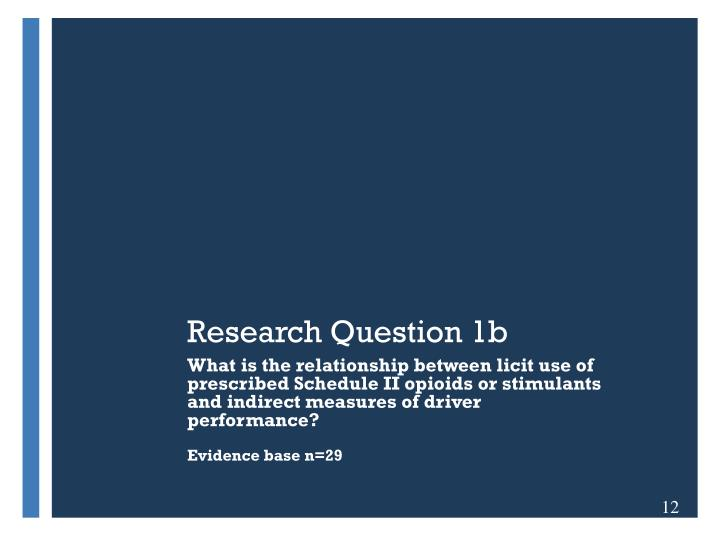Research Question 1b