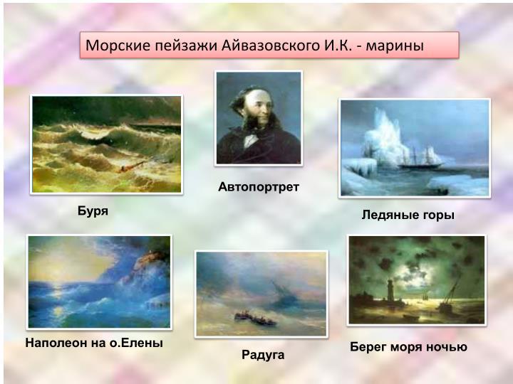 Морские пейзажи Айвазовского И.К. - марины