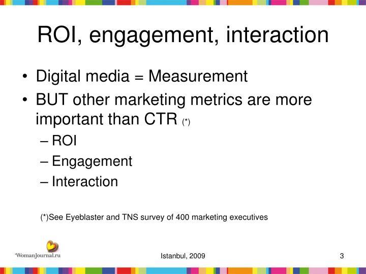 Roi engagement interaction
