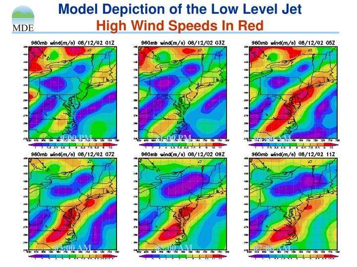 Model Depiction of the Low Level Jet