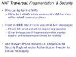 nat traversal fragmentation security