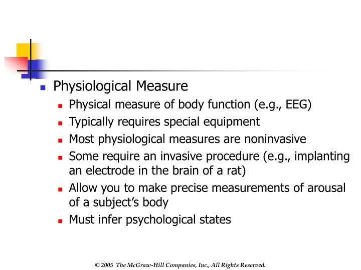 Physiological Measure