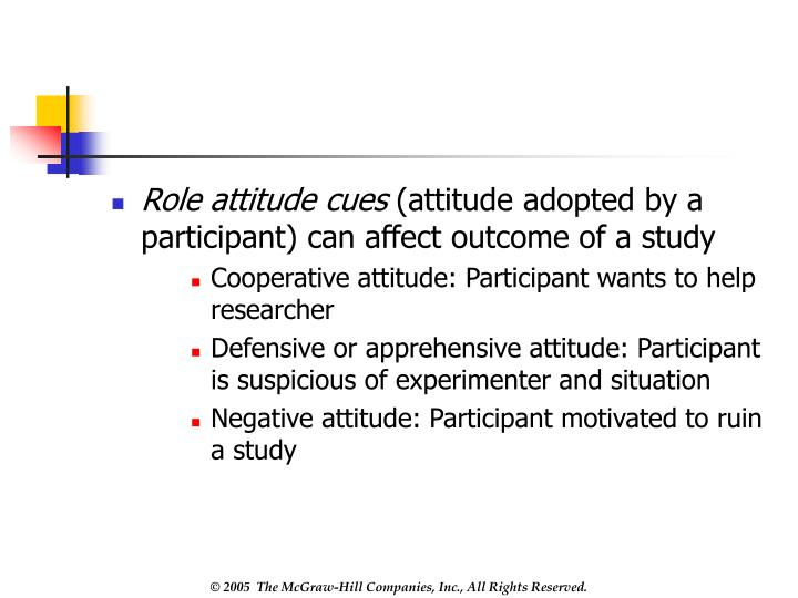 Role attitude cues