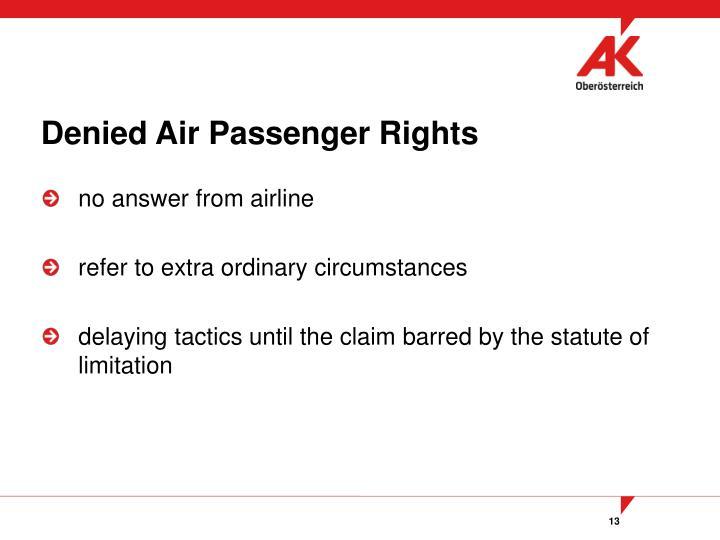 Denied Air Passenger Rights