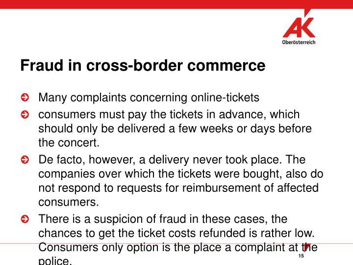 Fraud in cross-border commerce