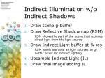 indirect illumination w o indirect shadows