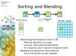 sorting and blending