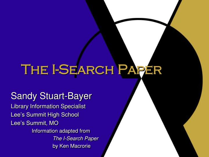 The i search paper