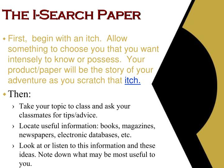 The I-Search Paper