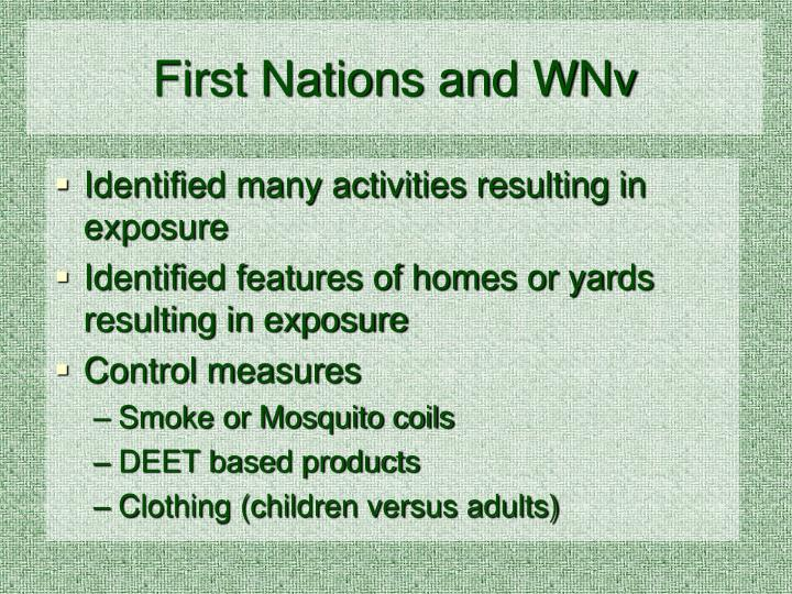 First Nations and WNv