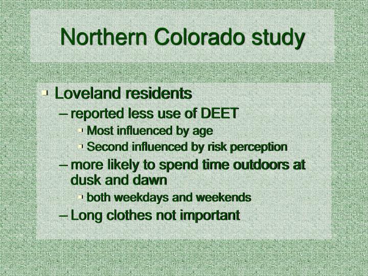 Northern Colorado study