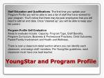 youngstar and program profile