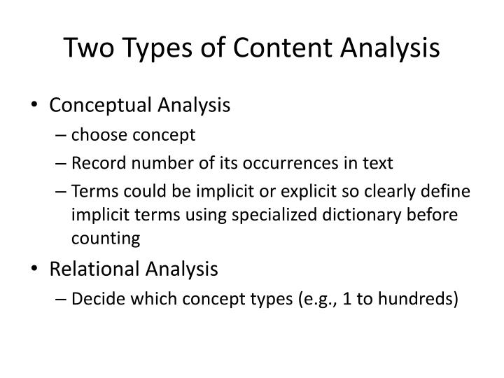 Two Types of Content Analysis