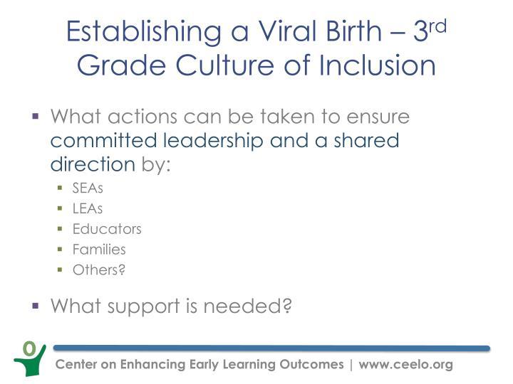 Establishing a Viral Birth – 3
