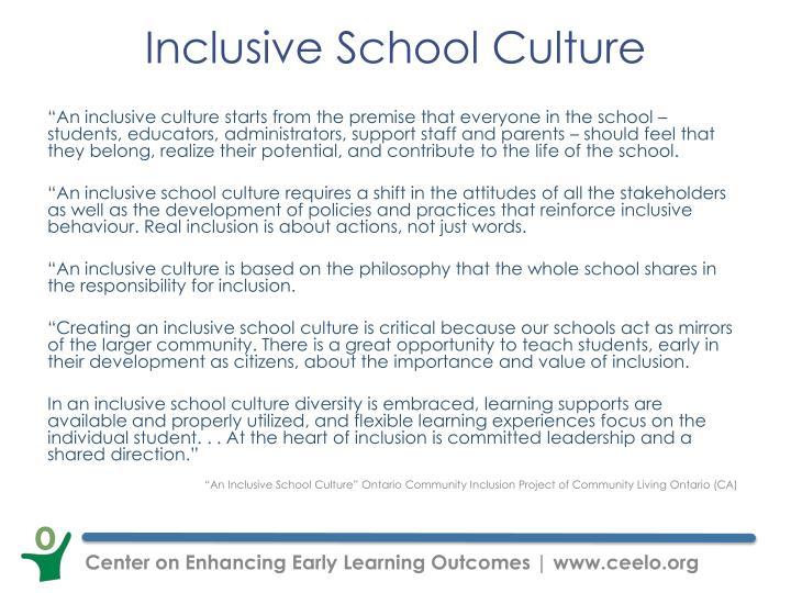 Inclusive School Culture