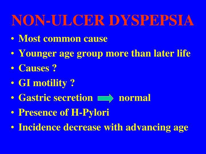 NON-ULCER DYSPEPSIA