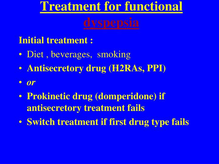 Treatment for functional