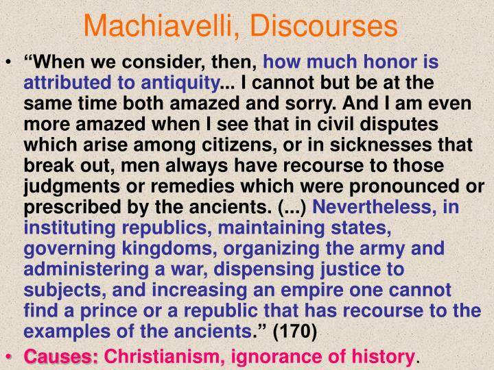 Machiavelli, Discourses