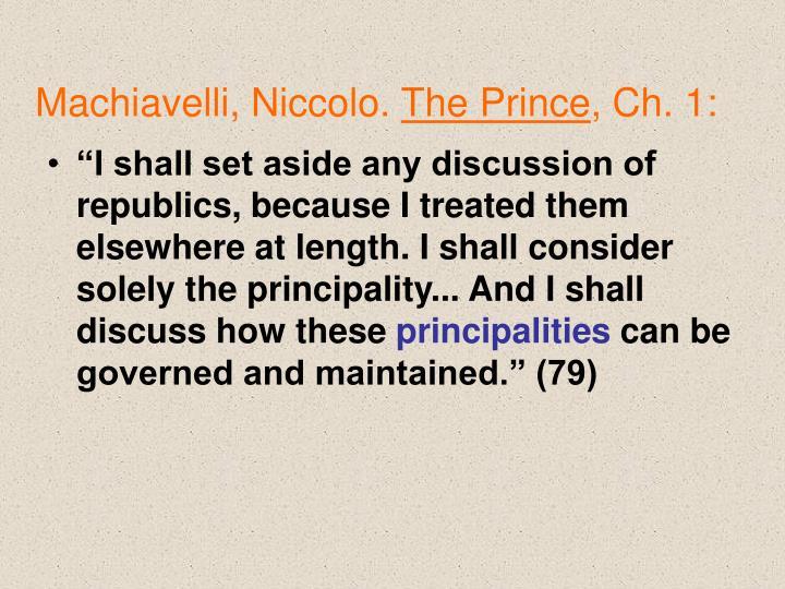Machiavelli, Niccolo.