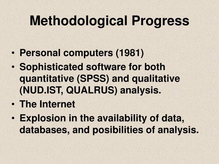 Methodological progress