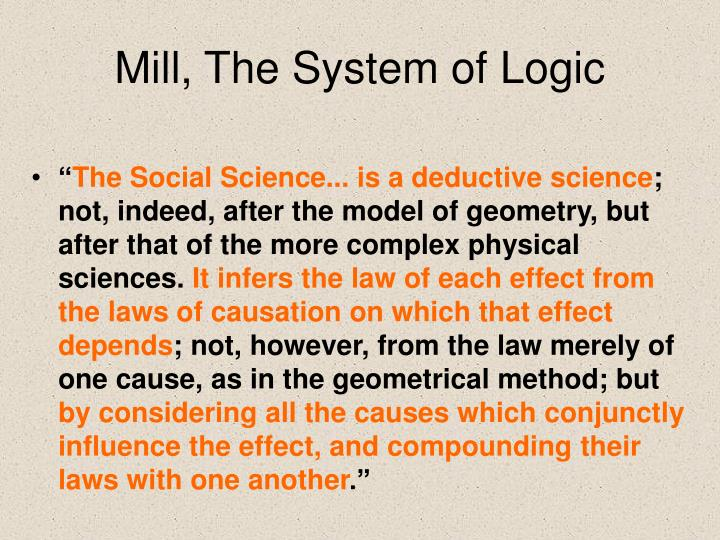 Mill, The System of Logic
