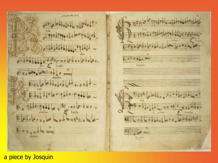 A piece by josquin