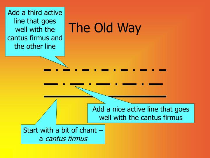 Add a third active line that goes well with the cantus firmus and the other line