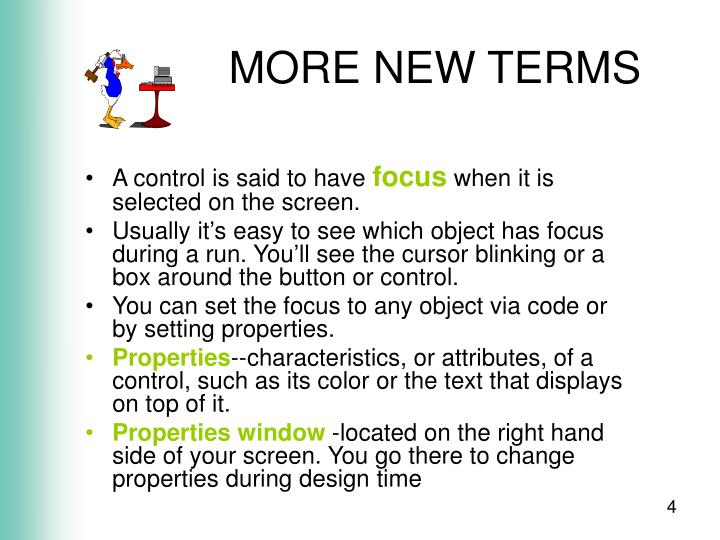 MORE NEW TERMS