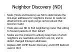 neighbor discovery nd