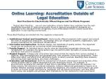 online learning accreditation outside of legal education1