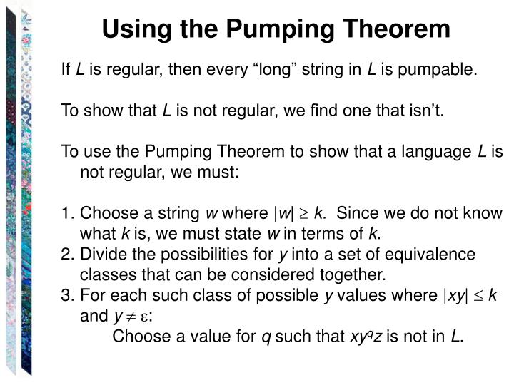 Using the Pumping Theorem