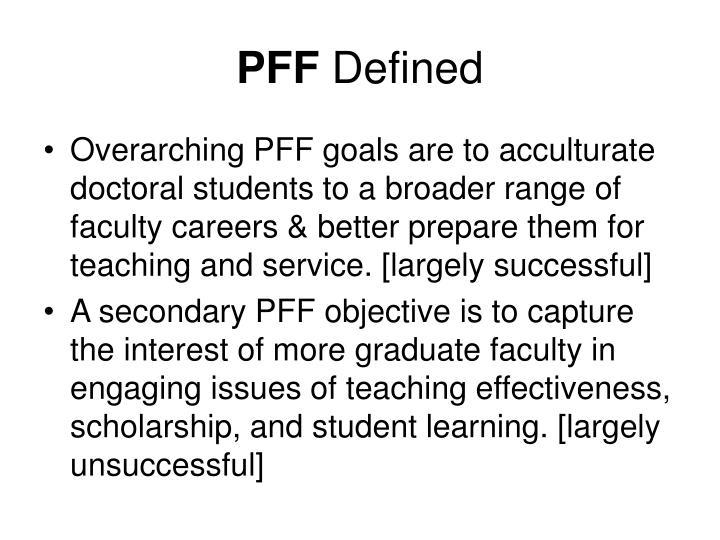 Pff defined