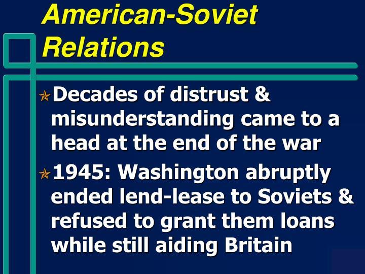 American-Soviet Relations