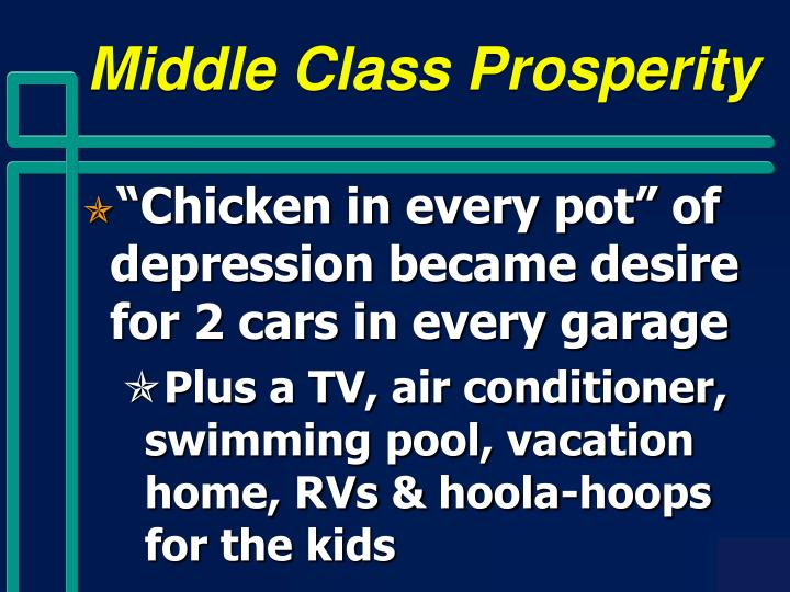 Middle Class Prosperity
