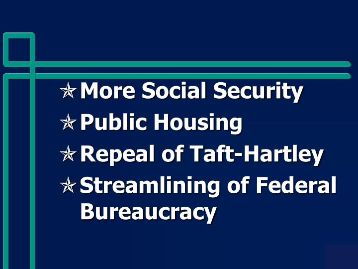More Social Security