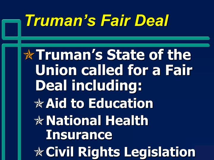 Truman's Fair Deal