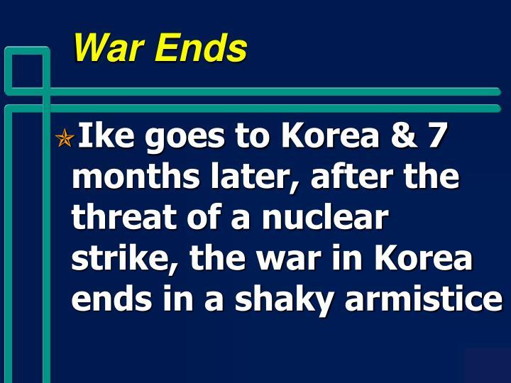 War Ends