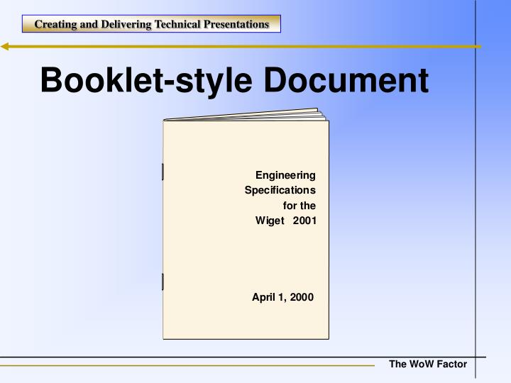 Booklet-style Document