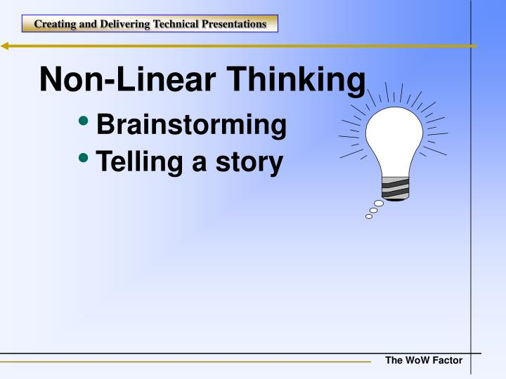 Non-Linear Thinking