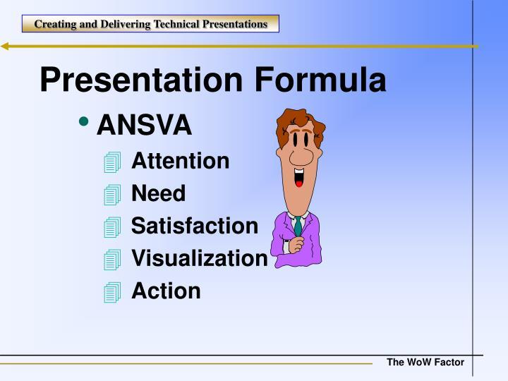 Presentation Formula