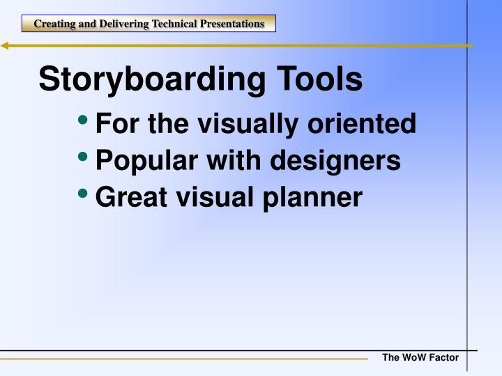 Storyboarding Tools