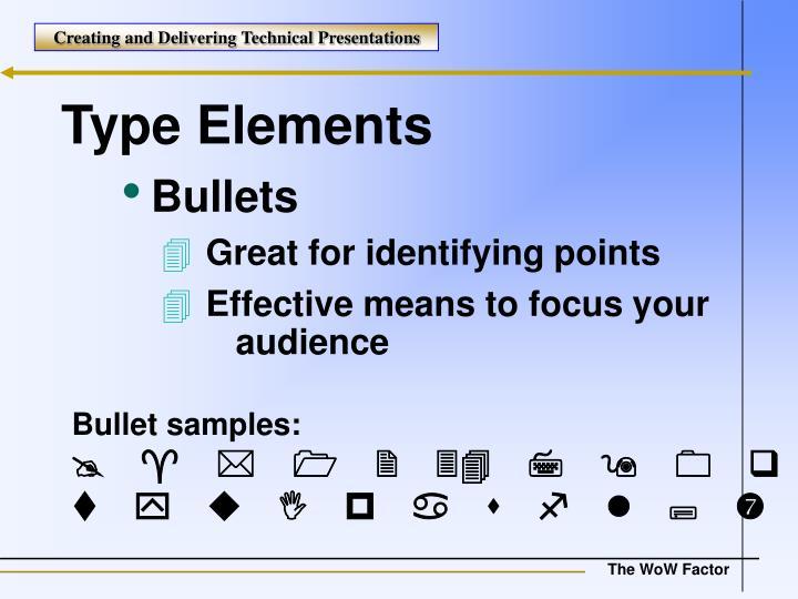 Type Elements