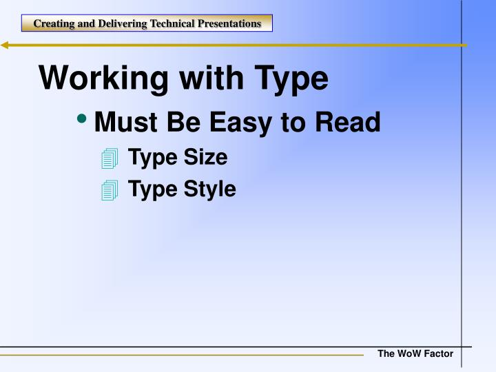 Working with Type